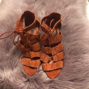 Zara Braided Heeled Sandals